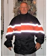 J & P Cycles Waterproof Reflective Motorcycle Jacket 3XL W/ Pack Away Fa... - $59.39