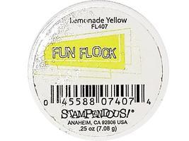 Stampendous Fun Flock Powder, Lemonade Yellow #FL407 image 2