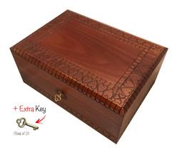 Handmade Wooden HEART BOX Jewelry Box Keepsake w/ Lock & Key Made in Poland - €53,87 EUR