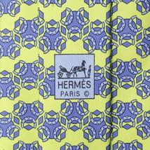 100% Auth HERMES TIE Silk Necktie Mens EQUESTRIAN HORSESHOE Pattern 5008 - $118.95