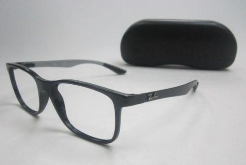 3e8a5d1ecb RayBan Carbon Fibre RB8903 5681 Full Rim Eyeglasses 55 18 145 w Case