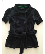 pre-owned TOMMY HILFIGER Button Up Jacket Short Sleeve sz S Navy Blue To... - $24.65