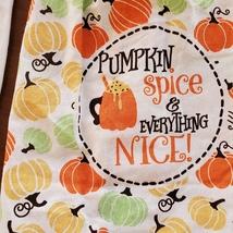 Kitchen Tie Towels, set of 2, Pumpkin Spice design, fall kitchen decor tea towel image 2