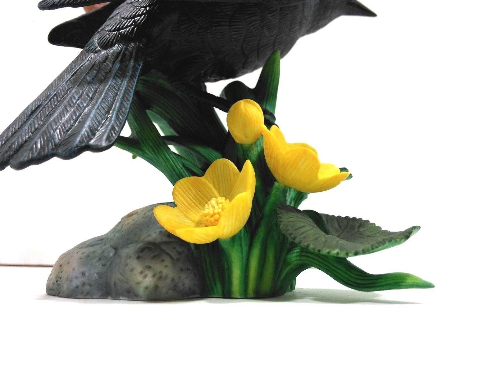 THE LENOX GARDEN BIRD COLLECTION Red Winged Black Bird (Fine Porcelain 1991) image 10