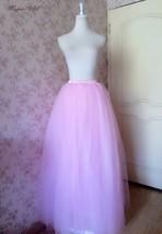 Women High Waist Pink Tulle Skirt Long Maxi Bridesmaid Maxi Skirt Princess Skirt image 4