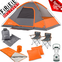 Camping Tent 4 Person 22Pc Set Waterproof Hiking Dome Travel Family Shelter - $207.89