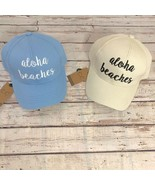 """""""ALOHA BEACHES"""" - CC Embroidered Adjustable Ball Cap Hat - OS Fits Most - $16.79"""