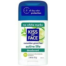 Kiss My Face Active Life Deodorant, Cucumber Green Tea 2.48 oz - $8.05