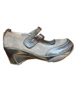 "J41 ADVENTURE ON WOMEN'S MARY JANE SHOES GRAY/BLACK ""KYOTO"" VEGAN LEATHE... - $26.72"