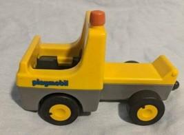 Vintage 1990 Playmobil Yellow Construction Dump Truck Plastic Toy Vehicl... - $9.85