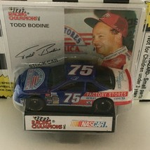 Racing Champions Todd Bodine #75 Nascar Stock Car Toy 1995 Edition Stand & Card - $4.50