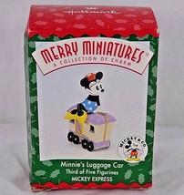 Hallmark Keepsake Ornament Mickey & Co Minnie's Luggage Car Mickey Expre... - $9.99