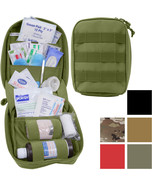 Tactical First Aid Kit Pouch Fully Stocked Medical Supplies MOLLE Supply... - $33.99+