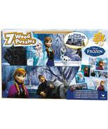 Disney Frozen 7 Wood Jigsaw Puzzles in Wood Storage Box - £15.24 GBP