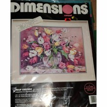 Dimensions 1992 Vintage Tulip Cascade Needlepoint Kit Gallery Collection... - $34.64
