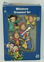Alvin Chipmunks Miniature Christmas Tree Ornament Set Simon Theodore Mus... - $19.79