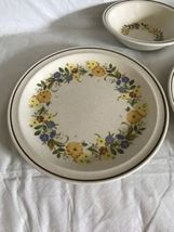 Nikko China Buttercup Pattern 2 Dinner Plates / 1 Soup Bowl Stoneware Unused image 3