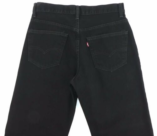 LEVI RED TAG Men's Black Straight Leg Fit Size 34 x 32 Zipper Fly Cotton EC image 6