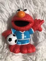 "2011 Hasbro Sesame Street Workshop Elmo Soccer Player 3"" PVC Figurine - $4.94"