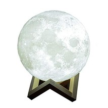 GZMAY Night Light 7.1 Inch 3D Printing Moon Lamp Touch Control with USB ... - $59.49
