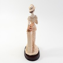 Marlo Collection by Artmark Lady Figurine Cup in hand Standing on Step image 2
