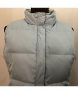 GAP Women's Down Puffer Vest, Size M, Full Zip, Light Blue - $23.75