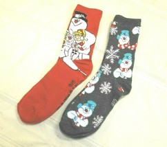 Lot of 2 Womens Christmas Socks Frosty the Snowman Fits All Sizes  - $6.81
