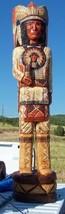 4' Cigar Store Indian Chief w Full Headdress Mandela Chest Plate 4 Ft Sc... - $939.00