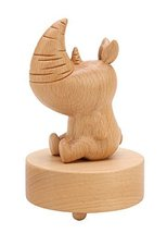 Unique Rhinoceros Music Box Decoration Gift with Graceful Melody - $61.04