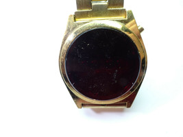 1970'S RED LED WATCH gold color WATCH missing battery covers TO RESTORE ... - $87.32