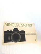 Minolta SR-T 101 35mm Film Camera Owner's Manual - $16.82