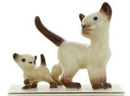 Hagen Renaker Miniature Cat Siamese Papa and Kitten Walking Ceramic Figurines image 10
