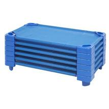 Offex Stackable Kiddie Cot Standard With 6 Cot Sheets - Rta - Blue, 6 Pack - $278.11