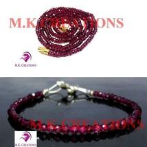 "Natural indian garnet 3-4mm Beads Beaded 32"" Necklace 7"" Bracelet Jewelry Set - $24.63"