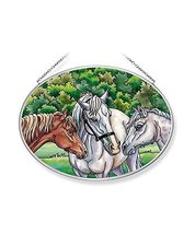 Amia The The Horse Whisperers Glass Suncatcher, Multicolor image 3