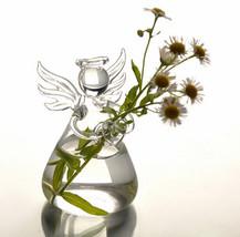 Mini Angel Flower Pot Glass Vase Terrarium Bottle High Quality Glass Hot... - $11.31
