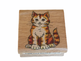 StampCraft Rubber Stamp Cute Tabby Cat Kitten Animal Card Making Paper C... - $4.00