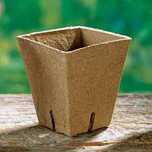 "Jiffy Pot, Single Square, 3.5"" X 4.0"", 25 Pack, POTS,25 Cells, Biodegradable - $18.49"