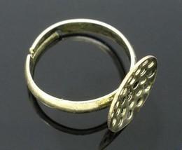 4pc antique bronze lead nickel free adjustable ring shanks-5659 - $2.00