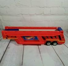 Mattel Hot Wheels Red Semi Car Carrier Case - Vintage 1986 - Trailer ONLY - $13.15