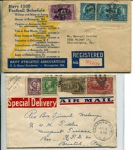 Special Delivery Airmail Registered Letter Cover Collection Stamps Posta... - $45.00