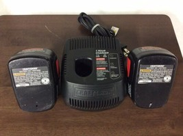 Craftsman Battery Charger 1425301 with 2 Batteries 14.4 VOLT DieHard 130279002 - $79.95