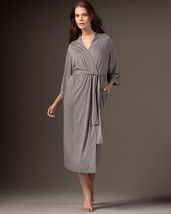 NWT $180 New Natori Gray Robe Womens S Long Very Soft Solid Silky Pocket... - ₨7,796.72 INR