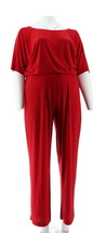 Hot in Hollywood Elegant V-Back Jumpsuit Red 1X NEW 301-340 - $38.59