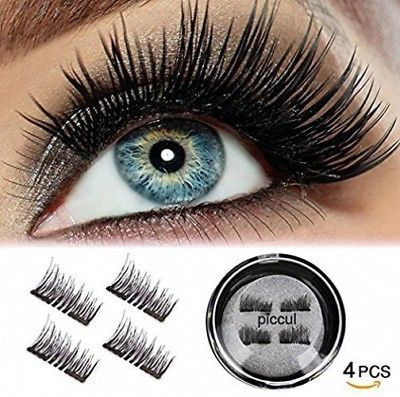 Primary image for  Piccul Magnetic False Eyelashes, 3D Black Dual Magnetic, Ultra Thick Ultra Solf