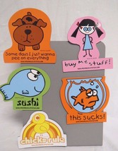 David And Goliath Lot Of 5 Refrigerator Magnets... - $14.84