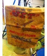 JET NORTHERN GROWN POTATO'S ADVERTISING BURLAP BAG - $23.75