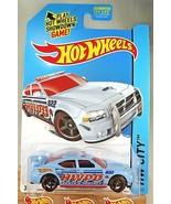 2014 Hot Wheels #48 HW City-HW Rescue DODGE CHARGER DRIFT Blue Variant w... - $8.50