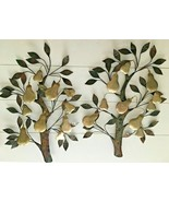 "25""x18"" Metal Wall Art Pear Tree Jere Era Mid Century Brass Copper Wall ... - $123.75"