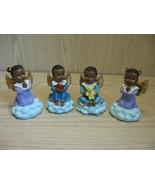 African American Ceramic Figurine Statue Qty 4 Angel Boys & Girls  - $9.95